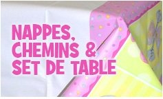 Nappes, chemins et sets de table